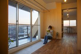 Japanese Living Room Wing Wall House Features Overlapping Living Spaces