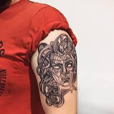 татуировка медуза горгона значение эскизы фото и видео Infotattoo