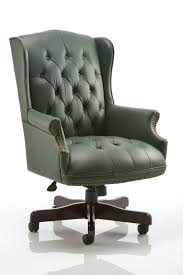 green leather office chair. Green Leather Office Chair N