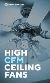 high cfm ceiling fan