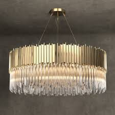 contemporary italian designer gold plated crystal chandelier