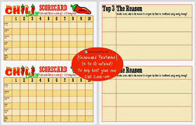 chili cook off judging sheet group chili cookoff sheet instant download scores group and