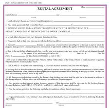 Residential Lease Contract Residential Rental Agreement Template Business