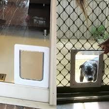 screen door with pet door aussie pet