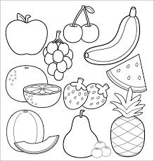 Tranh Tô Màu Trái Cây Cho Bé 3 Tuổi, 4 Tuổi ❤️ 5, 6 Tuổi