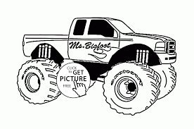 Mr Bigfoot Monster Truck Coloring Page