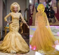 2016 gold lace wedding dresses bellanaija mermaid aso ebi styles