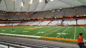 Syracuse Football Dome Seating Chart Carrier Dome Section 114 Home Of Syracuse Orange