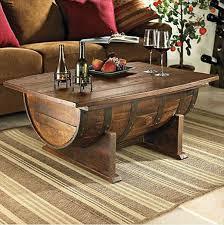 coffee table cool coffee table cool coffee tables diy using a half of gallon drum