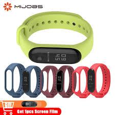 Online Shop <b>Mijobs</b> Bracelet <b>Mi Band 3</b> Silicone Wrist Strap for ...