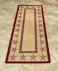 country star kitchen rugs coastal seashell themed accent indoor outdoor barn red runner rug large black braided fabul