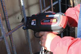 when tying rebar at ground level using an extension handle on a powered rebar tying tool will help protect against back pain and injury rebar worker