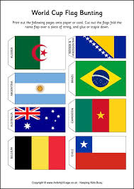 Listed below are links to categories for your choice of printable flags of the world. World Cup Flag Bunting World Cup Cup Crafts Flags Of The World