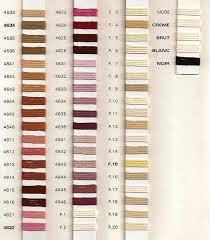 Soie D Alger Colour Chart Au Ver A Soie Soie Dalger Silk Thread Colours Embroidery