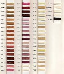 Soie D Alger To Dmc Conversion Chart Au Ver A Soie Soie Dalger Silk Thread Colours Embroidery