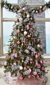 Pink and silver decorated Christmas tree. I LOVE my pink tree!