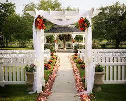 Tulle Fabric Wedding Decorations Garden Gazebo Wedding Ceremony Aisle Tulle Flowers Fabric