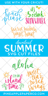 Free transparent banner vectors and icons in svg format. Summer Svg Files Best Summer Cut Files Pineapple Paper Co
