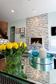 glass flat on the wall, with wall mounted fireplace