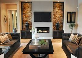 Models Modern Living Room With Fireplace And Tv Decorating