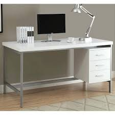 creative 60 inch desk white and silver metal inch office desk 30 x 60 desktop
