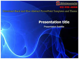 Blue Powerpoint Theme Download Black And Blue Abstract Powerpoint Templates And