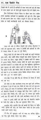 essay on a cricket match in hindi