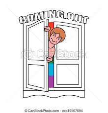 open closet door drawing. Coming Out Wardrobe LGBT Symbol. Open Closet Door. Get Of Gay. Door Drawing R