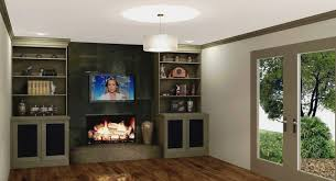 dunwoody fireplace builtins remodel design modern family room