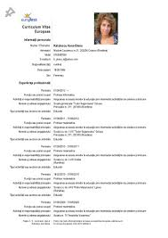 Fine Curriculum Vitae European Format Doc Images Example Resume