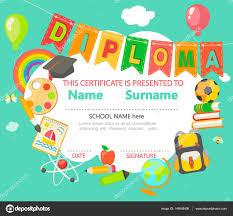 Kids Diploma Certificate Template Stock Vector Tandav 149658498