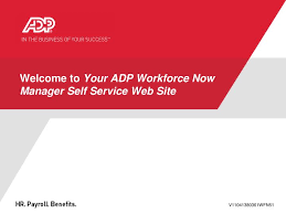 Ppt Welcome To Your Adp Workforce Now Manager Self Service