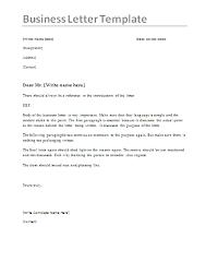 Business Letter Sample Word Business Letter Samples 4 Printable Word Pdf Formats