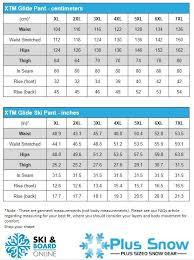 Mens Plus Size Chart Xtm Glide Ii Mens Plus Size Ski Pant Black Sizes Xl 7xl