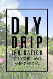 diy drip irrigation system for your lawn or garden step by step