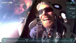 Richard Branson reaches space in his Virgin Galactic passenger rocket