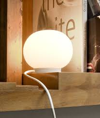 the smallest glo ball table lamp