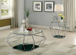 TAYA Glass Top Chrome Coffee Table CM4167