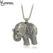 whole fashion jewelry yumfeel vintage style tibetan silver elephant pendants necklaces elephant pendant pendant necklace unique jewelry best friend
