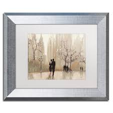 julia purinton x27 an evening out neutral x27 white matte  on rectangular framed wall art with shop julia purinton an evening out neutral white matte silver