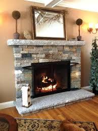 stone fireplace surround white stacked