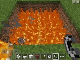 4 place the blocks on top of the fire but don t put the fire out you use blocks because if you use slabs this hot tub won t work i also placed blocks