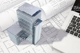 architecture blueprints 3d.  Architecture Construction Architecture Blueprint With Office Building Exterior And 3D  Model Royaltyfree Stock Photo And Architecture Blueprints 3d