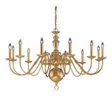 delft 12 light large polished brass chandelier co41712pb