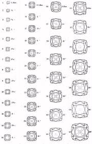 Real Size Diamond Carat Chart Actual Sizes Of Diamonds Of 1 4 To 100 Carats In 2019