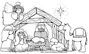 Small Picture Nativity Coloring Pages With Scripture Nativity Coloring Pages
