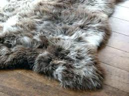 fake sheepskin rug canada large fur skin rugs soft faux bedroom animal s cream