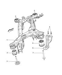 2010 dodge journey cradle rear suspension diagram i2241975