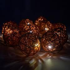 rattan lighting. exellent lighting 10 solar power rattan wicker ball string lights fairy warm white outdoor  garden and rattan lighting