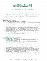 Retail Sales Representative Resume 30 Basic Sales Resume Templates